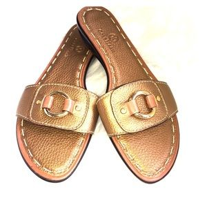 Cole Haan | Bronze Leather Nike Air Sandals 7AA